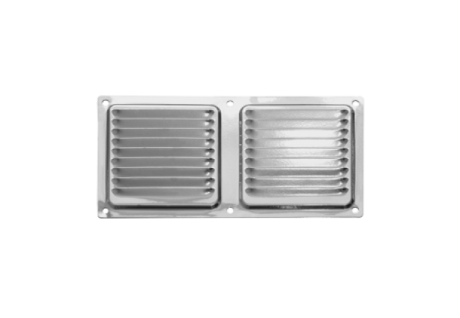 Решетка вентиляционная 100х200, с антимоскитной сеткой